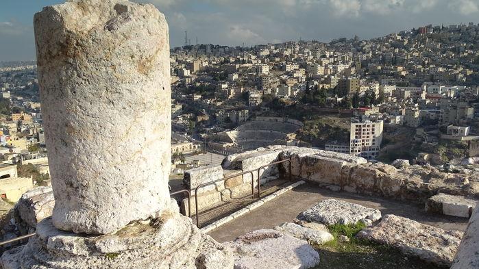 Vy från Ammans citadell