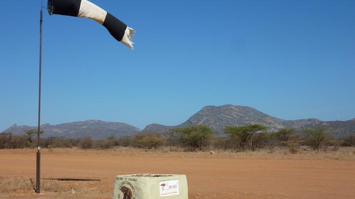 Landingsbanen i Samburu