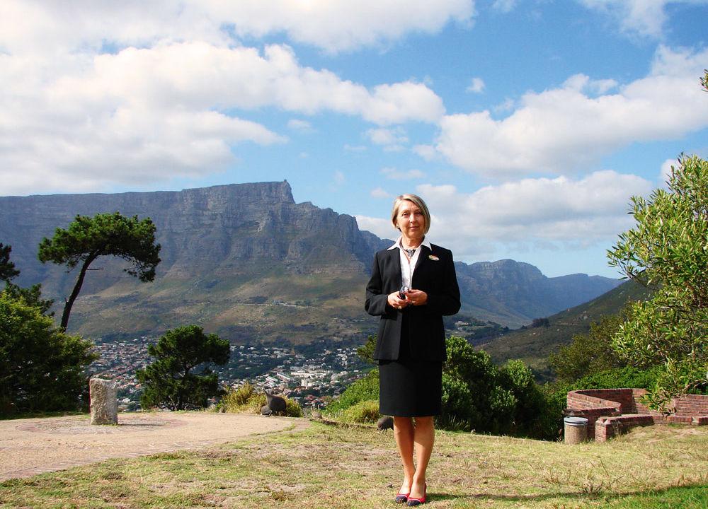 Ingrid Andersson, en av våra två Jamboguider på denna resa. Bosatt sedan många år i Sydafrika.