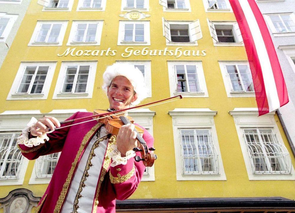 Här föddes Mozart år 1756.