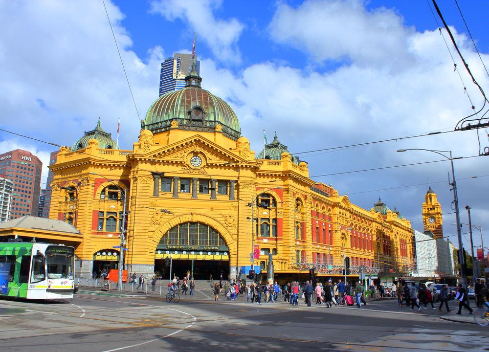 Stationshuset Flinders Street Station i Melbourne.
