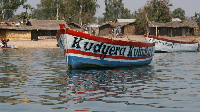 Fiskeby vid Malawisjön.