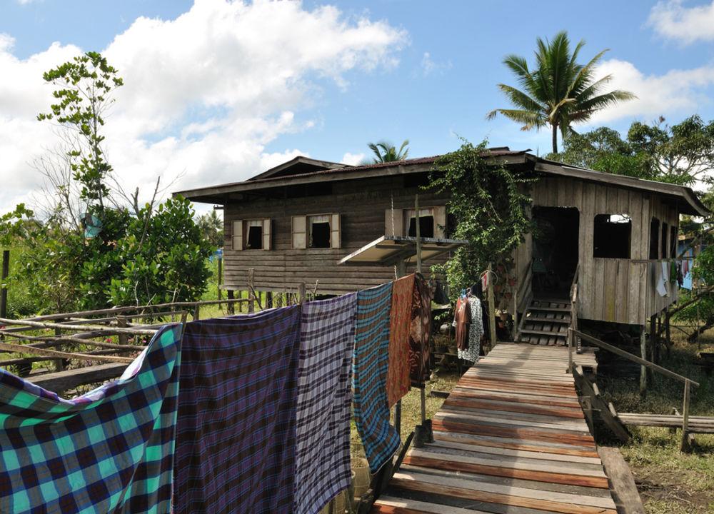 Hus i jungelbyen Abai