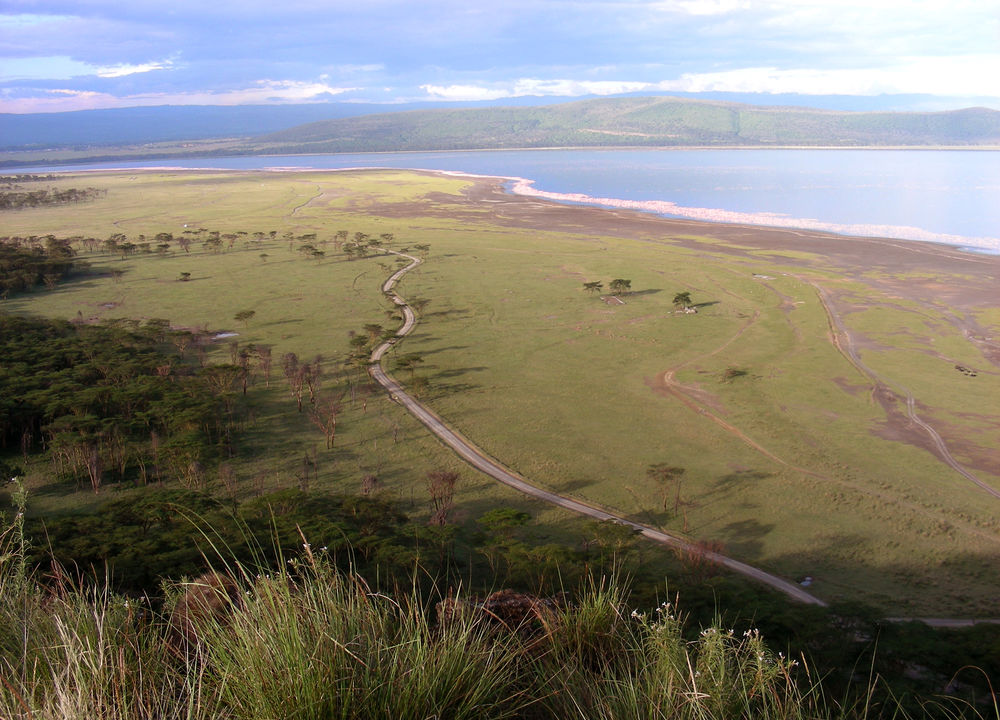 Utsikt over Riftdalen og Lake Manyara