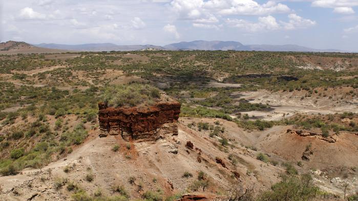 Olduvai gorge mellom Serengeti og Ngorongoro.