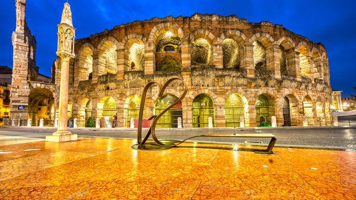 Arenan byggdes under det första århundradet efter Kristus och har plats för 20000 åskådare.