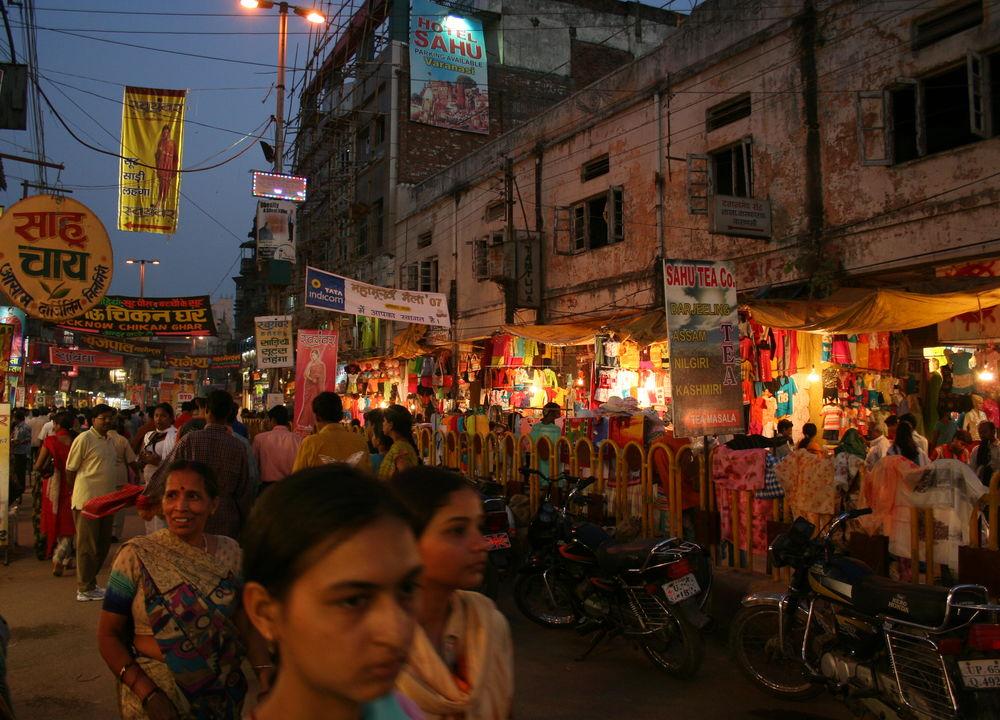 Kvällsbild Varanasi